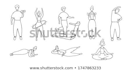 болван характер девушки иллюстрация спорт Сток-фото © bluering