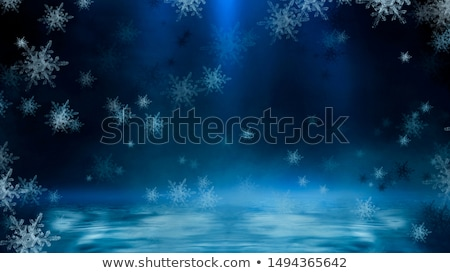 Blue snowflakes blizzard in the darkness Stock photo © SwillSkill