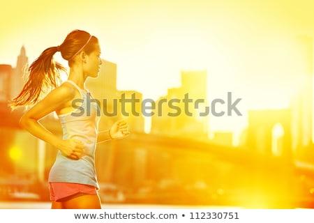 Femenino fitness modelo formación fuera parque Foto stock © -Baks-