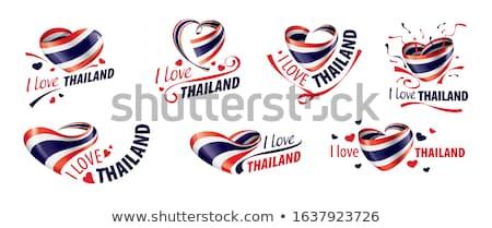 Amor bandeiras criador foto assinar Foto stock © Fisher