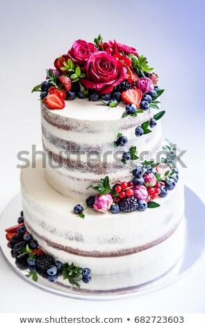 Lezzetli düğün pastası meyve güzel düğün meyve Stok fotoğraf © tekso