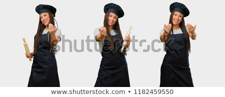 set African cook and hand gestures Stock photo © studiostoks