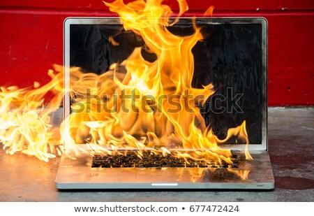 klavye · yangın · muhteşem · görüntü · piyano · tuşları - stok fotoğraf © rastudio