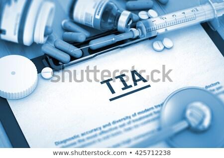 Stockfoto: Diagnose · geneeskunde · 3d · illustration · aanval · afgedrukt · wazig
