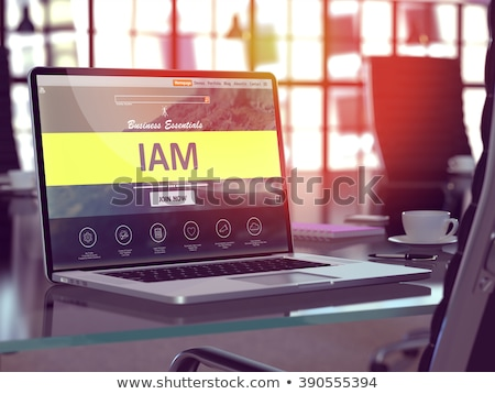 Identity Management Concept on Laptop Screen. 3D. Stock photo © tashatuvango