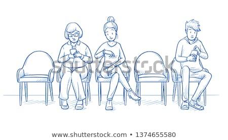 Iki doktorlar bekleme odası tıbbi gözlük tıp Stok fotoğraf © IS2