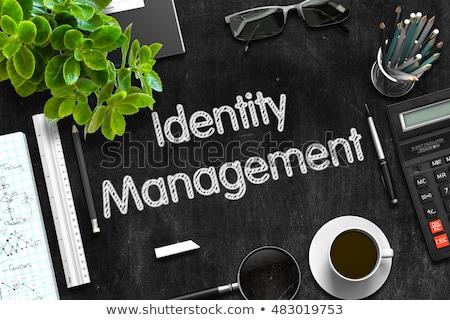 Identität Management Tafel Büro grünen Text Stock foto © tashatuvango