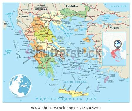 Grécia político globo bandeira ilustração 3d isolado Foto stock © Harlekino