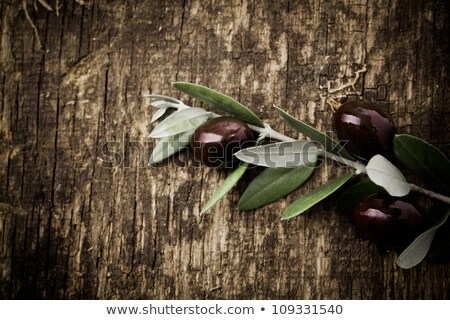 cheese and olives on wooden surface stock photo © ssuaphoto