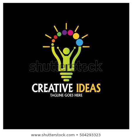 Icon kid creativiteit vorm hand Stockfoto © Olena