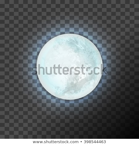 Telihold izolált átláthatóság űr citromsárga vektor Stock fotó © Sonya_illustrations
