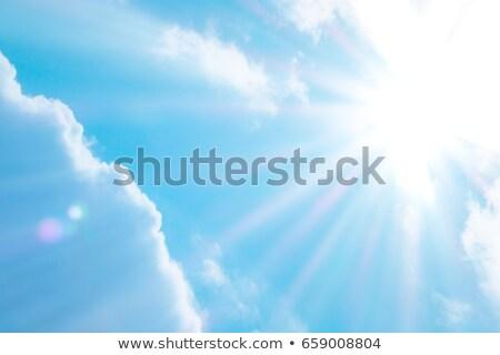 Güneş parlak ışık yağmur yaz Stok fotoğraf © rufous
