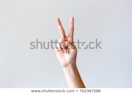 Mano humana signo victoria paz vector Foto stock © RAStudio