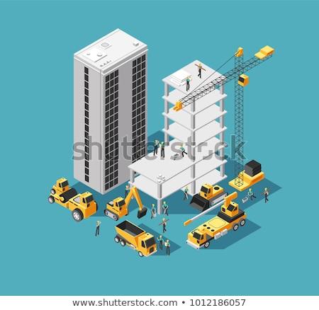 Heavy industry architecture isometric 3D element Stock photo © studioworkstock