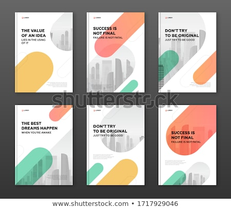 Red Booklet cover template Stock photo © daboost