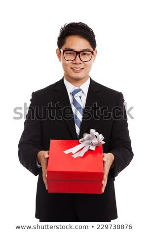 Asia empresario arco empresarial gente de negocios aislado Foto stock © studioworkstock