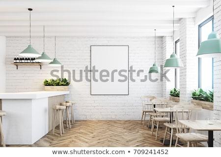 кофейня плакат ретро дизайна бумаги ресторан Сток-фото © milsiart