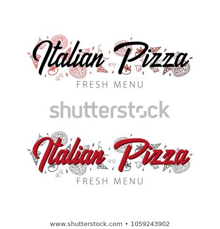 Italiano caliente pizza icono signo cinta Foto stock © alexmillos