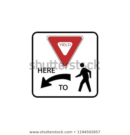 Cedere cartello stradale strada segno blu bicicletta Foto d'archivio © benkrut