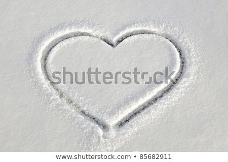 forma · de · coração · branco · neve · amor · símbolo - foto stock © vapi