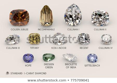 green diamonds with gems stock photo © alphababy