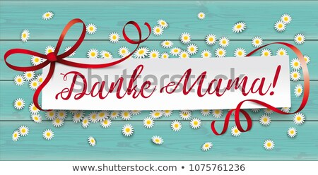 Paper Banner Red Ribbon Thanks Mom Stock photo © limbi007
