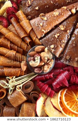 felirat · egészséges · étel · különböző · diók · űr · szöveg - stock fotó © valeriy