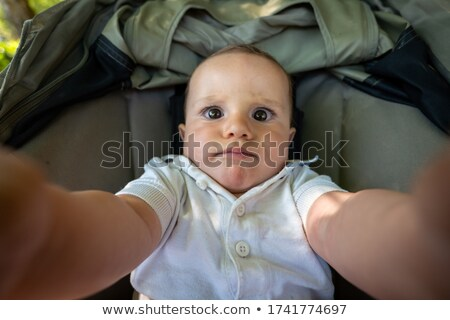 Baby in a Stroller Cute Expression Stock photo © 2tun