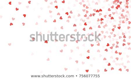 Romantikus szívek ruházat bokeh hatás háttér Stock fotó © zven0