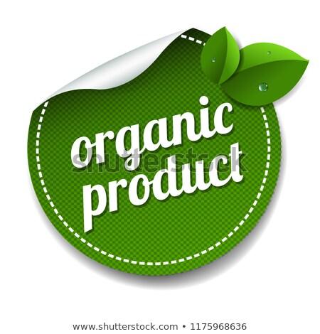 organic product label lsolated white background stock photo © cammep
