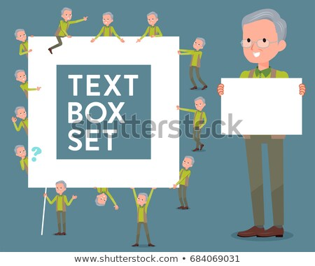 flat type Green vest grandfather_text box stock photo © toyotoyo
