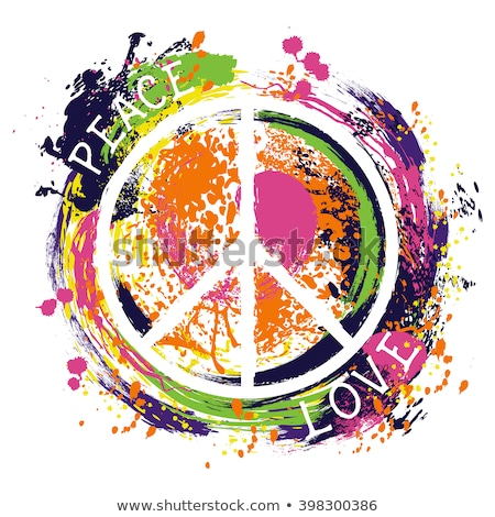vrede · symbool · zeventig · vector · abstract · achtergrond - stockfoto © selenamay