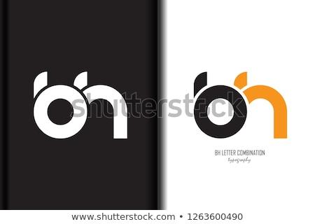Orange Round Bold Icon for Letter B Vector Illustration Stock photo © cidepix