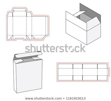 Simple box packaging die cut out template design. 3d mock-up. Template of a simple Box. Cut out of P Stock photo © Designer_things
