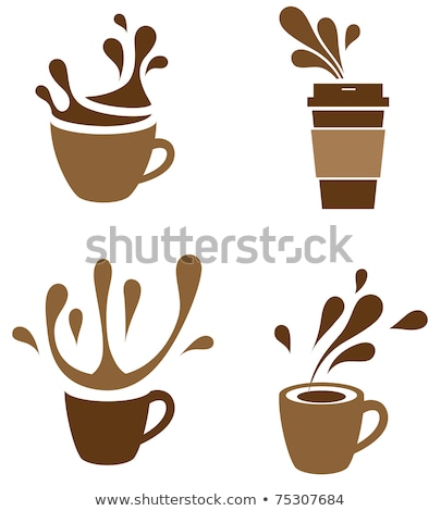 Cup with Coffee Spilling, Vector Illustration Stock photo © robuart