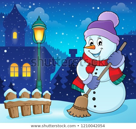 Winter snowman subject image 6 Stock photo © clairev