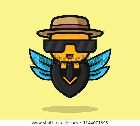 Cartoon Smiling Detective Bee Stock photo © cthoman