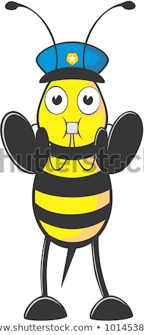 Cartoon Smiling Police Officer Bee Stock photo © cthoman