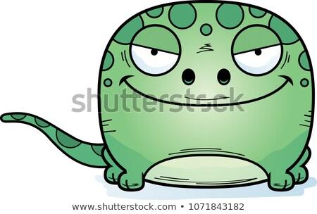 Schlau Karikatur gecko Illustration Tier Stock foto © cthoman