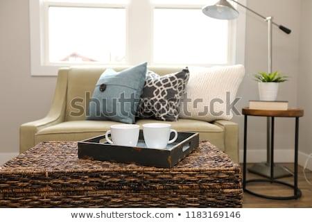 witte · sofa · groene · muur · abstract - stockfoto © iriana88w