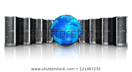 Stock photo: Server in Earth. Data center of planet. Internet industry. Data