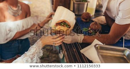 People serving street food Stock photo © vapi