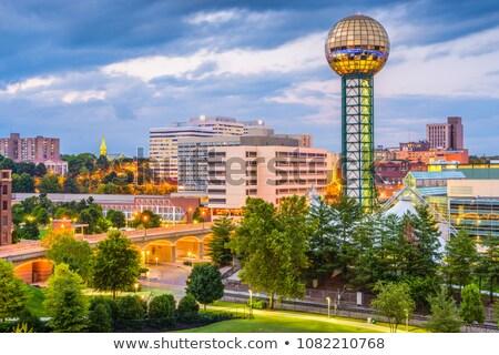 Aube centre-ville Tennessee USA bleu Voyage Photo stock © benkrut