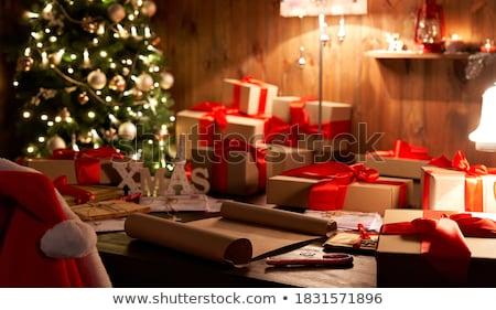 Karácsony ünnepek előkészítés levél mikulás vidám Stock fotó © robuart