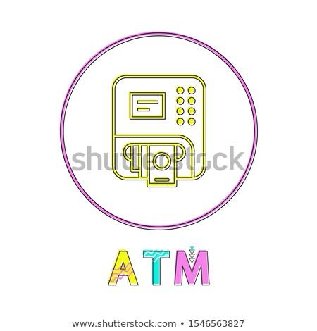 Atm lineair knop sjabloon online app Stockfoto © robuart