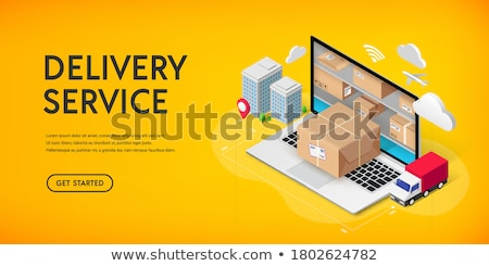 internet shopping online delivery isometric concept stock photo © -talex-