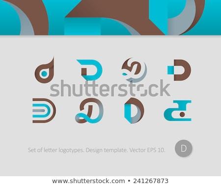 Logotípus d betű ikon szimbólum vektor felirat Stock fotó © blaskorizov