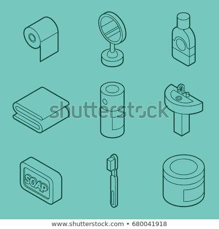 個人衛生 · アイソメトリック · セット · eps · 10 · 健康 - ストックフォト © netkov1