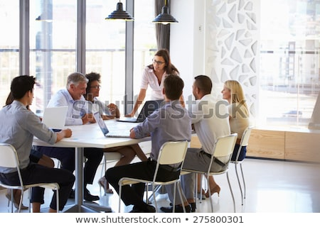 Strategy Presentation by Businesswoman Presenter Stock photo © robuart