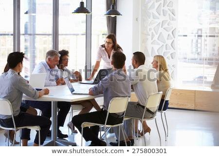 Strategy Presentation by Businesswoman Presenter Stock photo © robuart